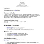Nursing Resume template Simple-Nursing-Students-Resume-Example-With-Mary-Hospital-Certification