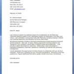 Pharmacy Technician Letter Continued Education to pharmacy tecnician position john job seeker