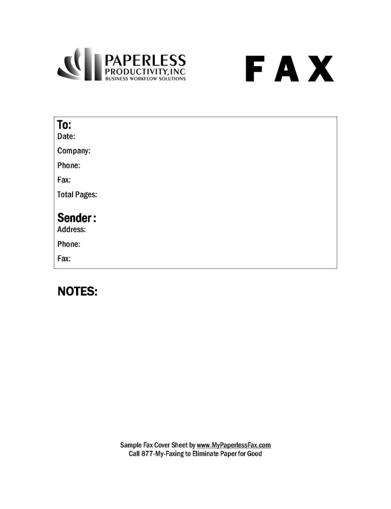 Printable Fax Cover Sheet Template free-fax-cover-letter-template