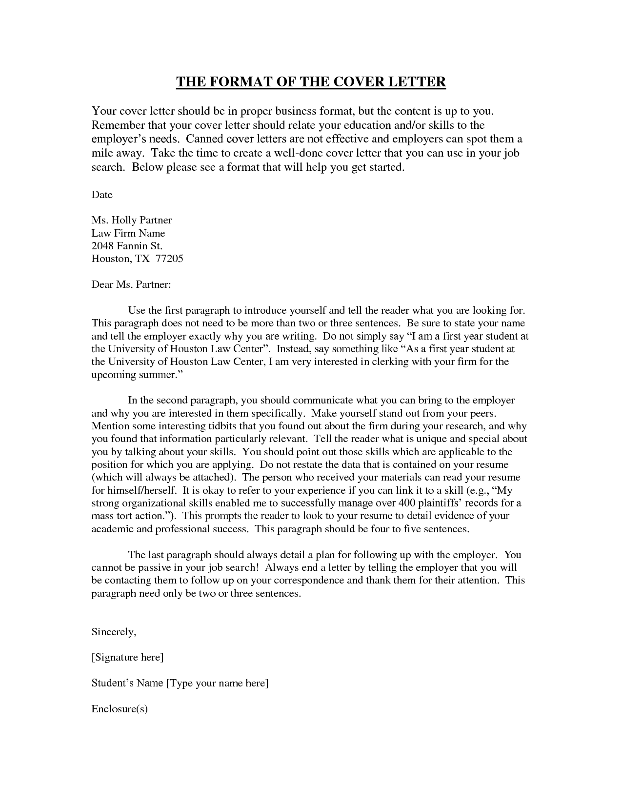 how to do a proper cover letter - proper letter format 2016