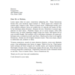 Proper business Letter Format formal letter sample 2016