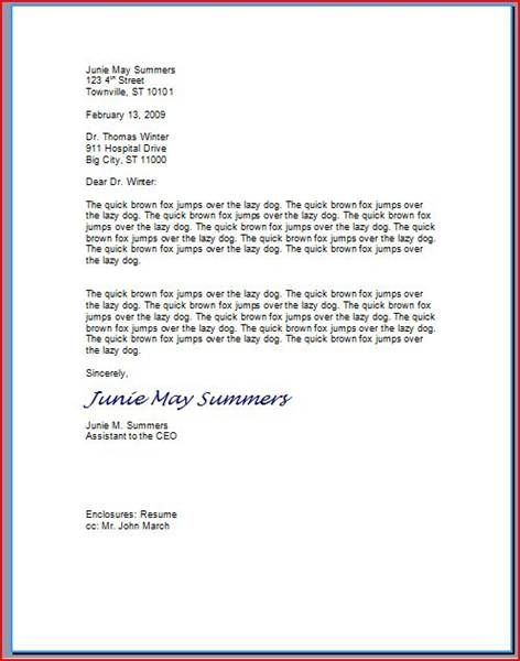 Proper friendly letter format 2016 samplebusinessresume for How to do a proper cover letter