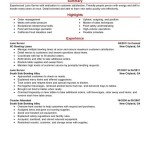 server resume skills lane server media and entertainment crysta moore - Resume Examples For Servers