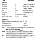 acting resume template resume templates for actors theatre acting resume templates by robin leabman