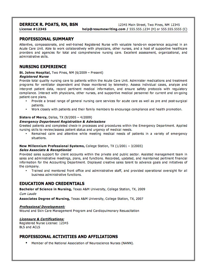 Resume Template Nursing Assistant Resume Example For Objective