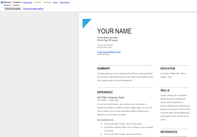 functional resume template google docs resume template google docs