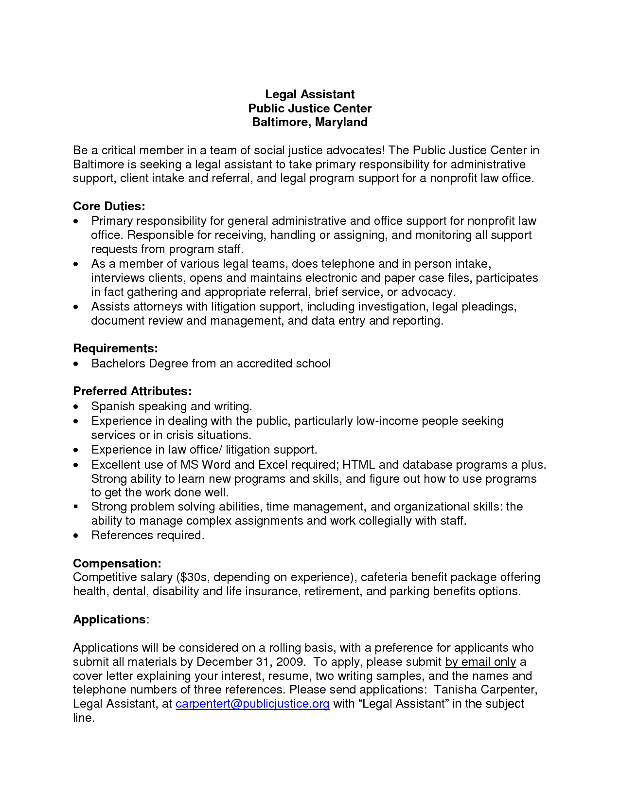General Administrative Assistant Cover Letter Administrative
