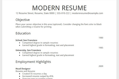google docs modern resume template google docs resume template 2015