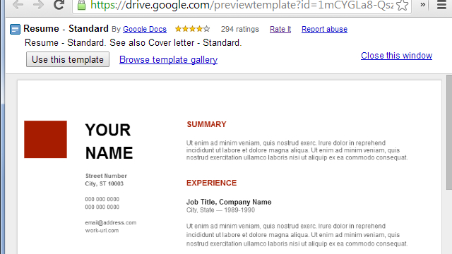 google docs resume template download Use Google Docs' Resume Template