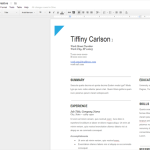 google docs resume template initials five92 tiffiny carlson