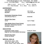 kids acting resume template by melody maguire