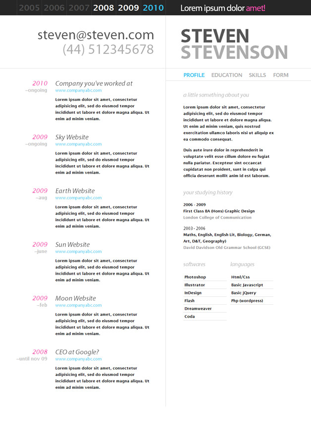 Resume Templates Google Docs