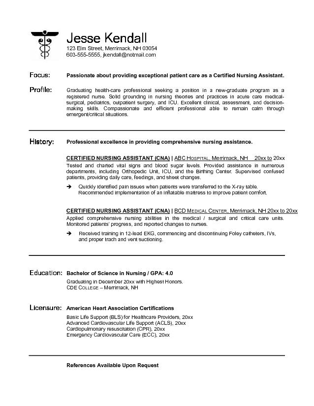 Sample Nursing Resume New Grad. Staff Nurse Resume Sample Nursing