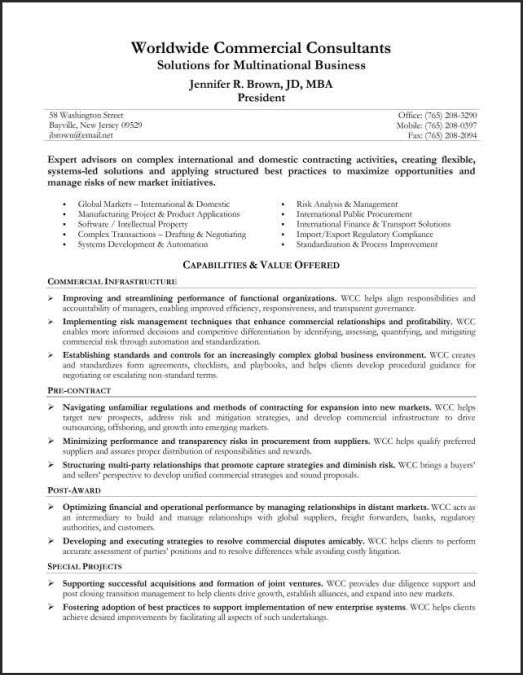 job resume summary examples