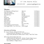 sample acting resume template acting resume template pages by jeff mcmorrough