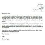 Basic Two Week Resignation Letter Samples and Basic Formal resignation letter example with two weeks notice