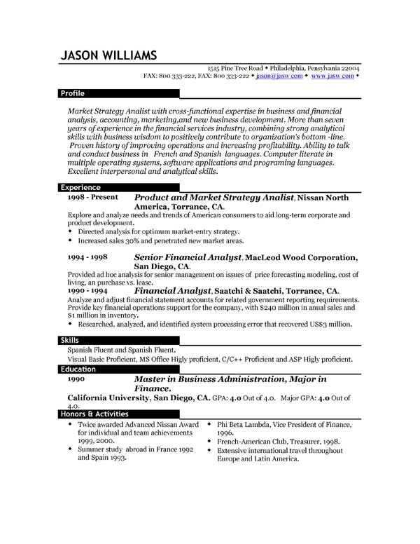 14 compilation of best resume format 2016