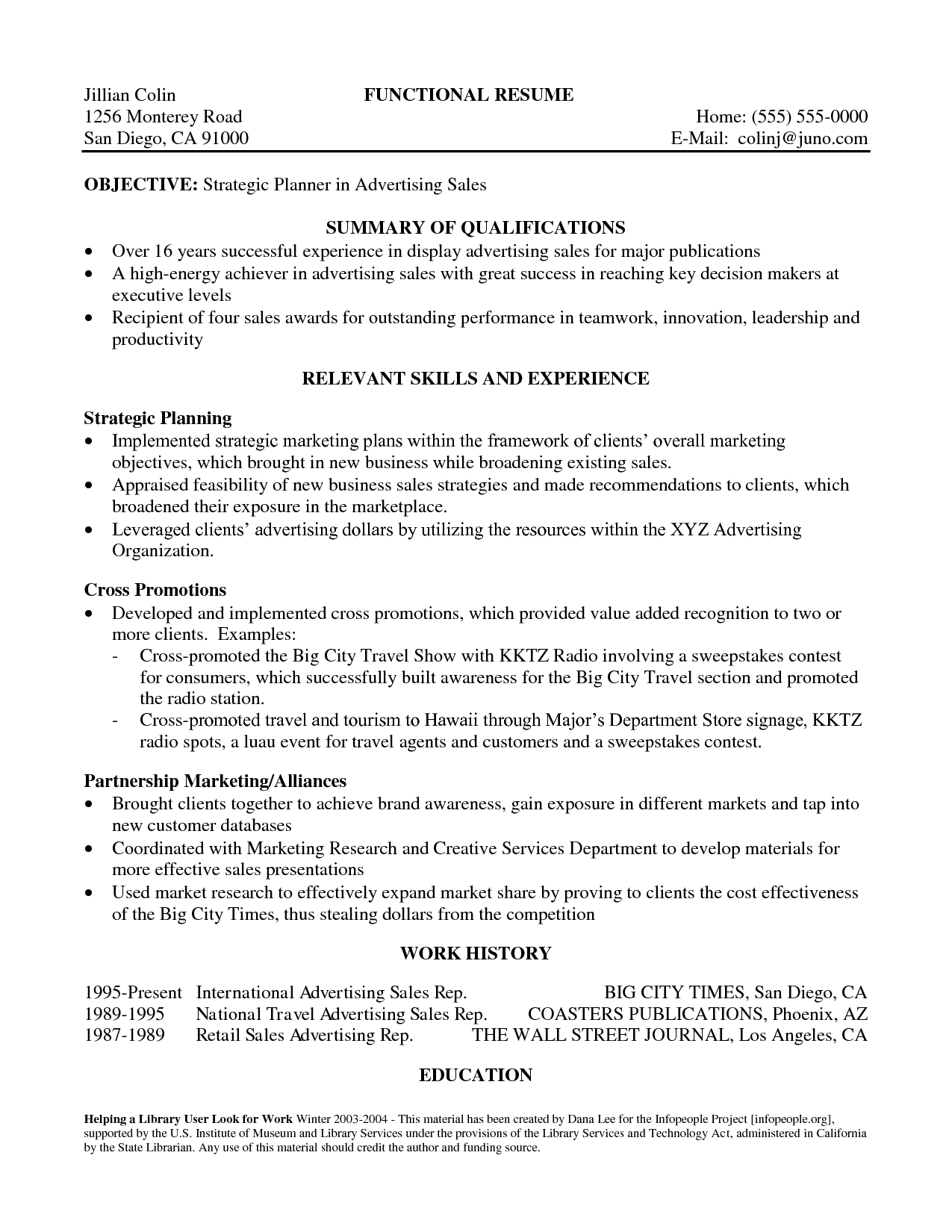 summary for resume