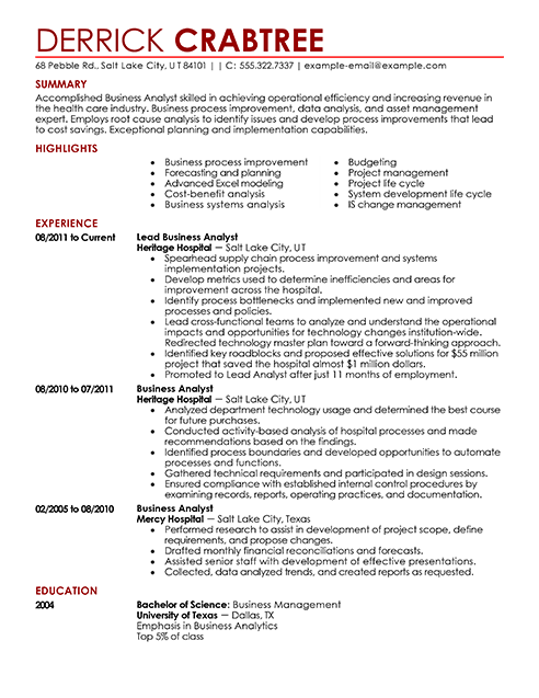 10 resume examples 2014 samplebusinessresume com