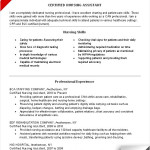 nursing assistant resume skills cna skills resume sample by