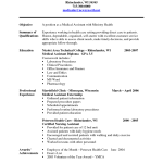 Certified Medical Assistant Resume Sample 2016