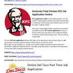 Kfc Job Application Form Online Kfc Application Online Print ...
