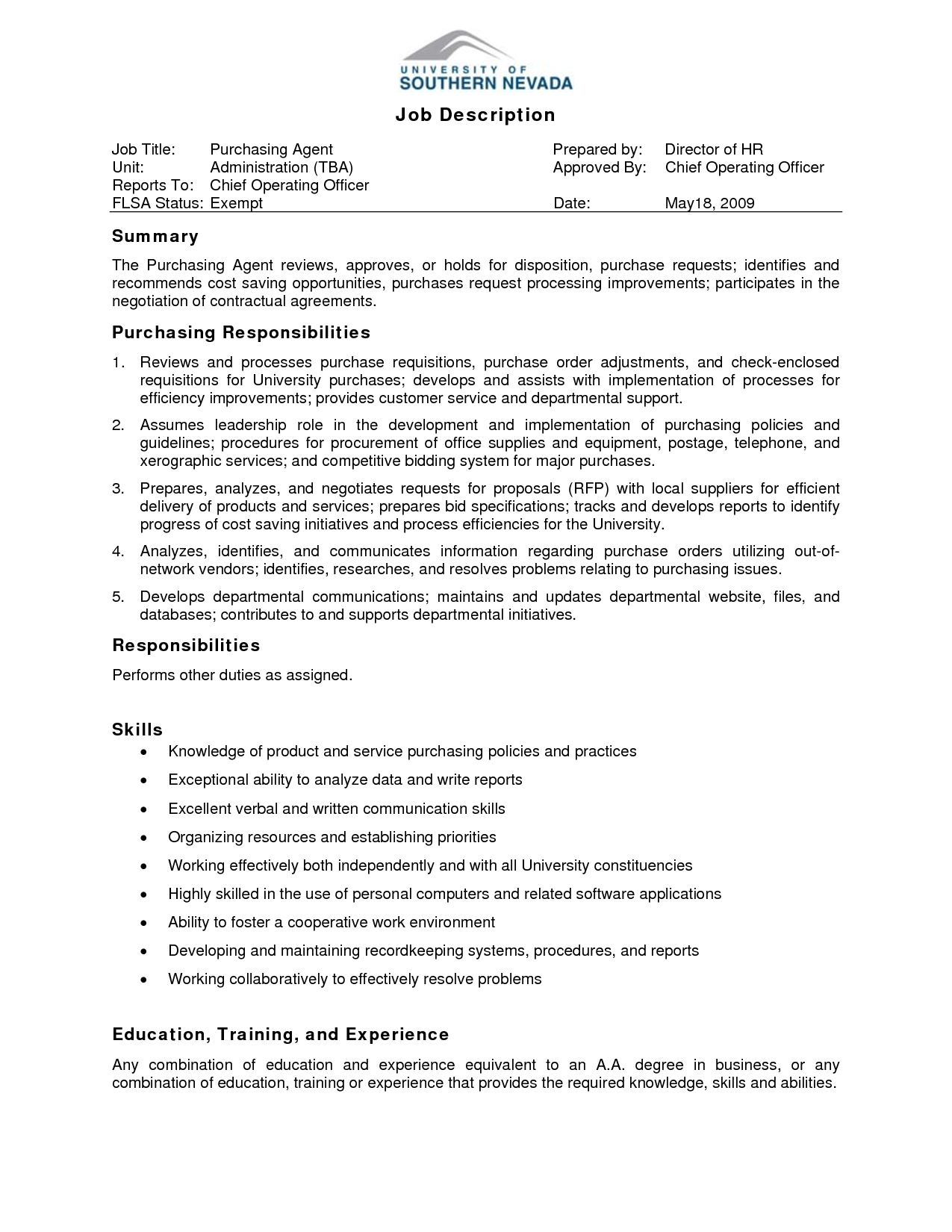 Sales Staff Description Resume S Assistant Responsibilities