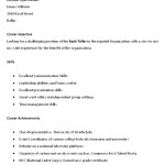free bank teller resume sample template carreer objective skills and achiecment