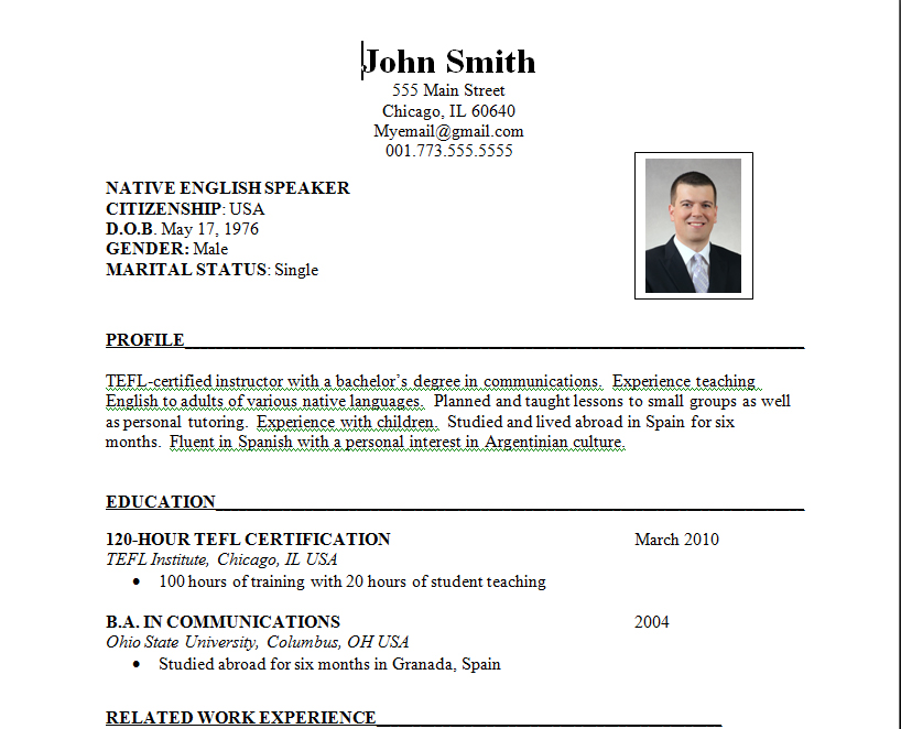 Download Best Resume Format | Resume Format And Resume Maker