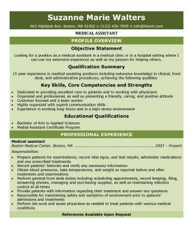 Free Entry Level Medical Assistant Resume Samples you can use job applications