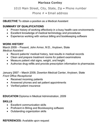 Free Resume Samples  Medical Assistant Resume