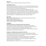 Free Sample Objectives for Resumes objective examples healthcare manager Sample Resume for Medical And Management Position OBJECTIVE Position