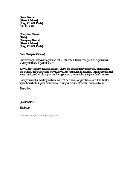 general cover letter for resume resume cover letter in response to