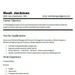 Good Career Objective Examples chronogical work experience for Resumes