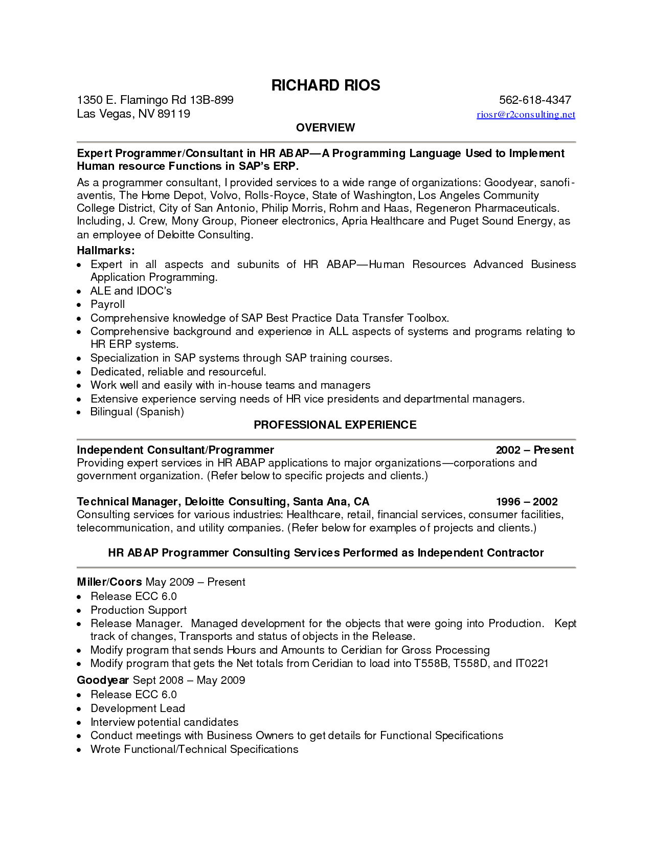 great resume summary statements