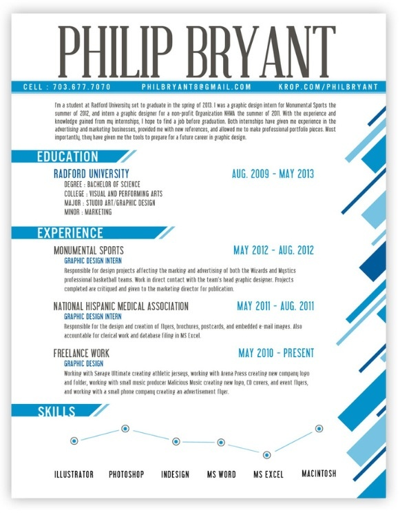 graphic design resume and creative resume design web design skills resume by philip bryant - Graphic Designers Resumes