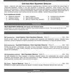 Heavy Equipment Operator Cover Letter and Heavy Equipment Operator resume