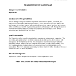 High Level Executive Assistant Duties Job Description for Administrative Assistant