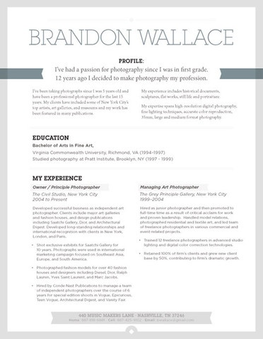 How to Make a Creative Looking Resume and Unique Name for Resume by brandonwallace