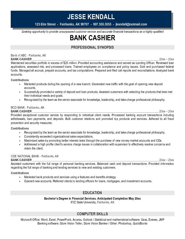 Cashier Responsibilities For Resume Samplebusinessresume
