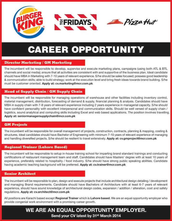 Managers team resume Trainer & Architect burger king Jobs