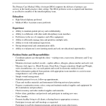 Medical Assistant Duties For Resume cetified medical assistant job description for resume