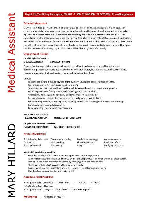 Medical Assistant resume free Objective for Medical Assistant