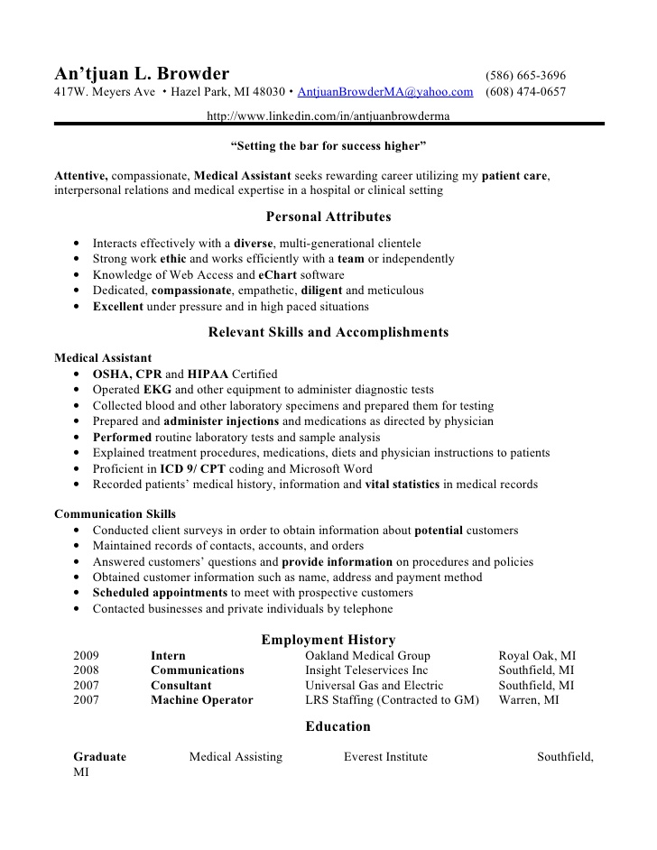 medical assistant resume examples besikeightyco