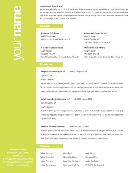 Nice Resume Layouts just go find your job a t First Job com for your creative mind