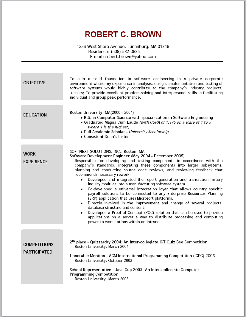 objectives for resumes examples objective examples on job - Job Objective For Resume