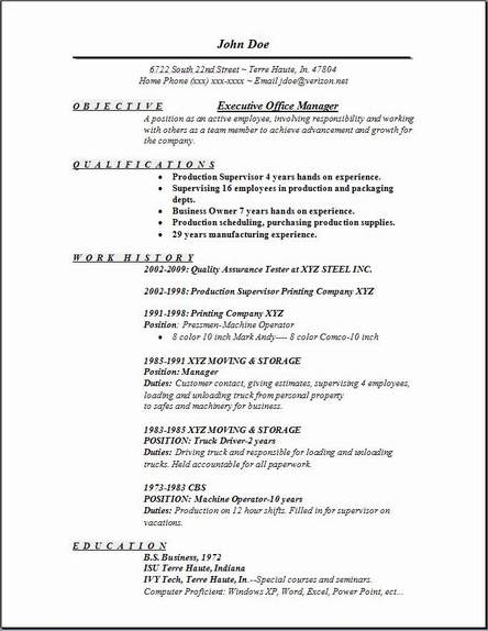 Office Manager Resume Template Free office manager resume point by john doe