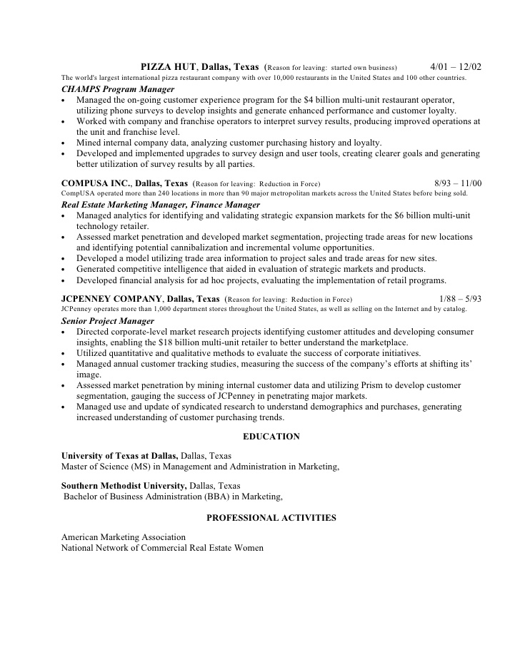 pizza hut resume sample for pizza jobs