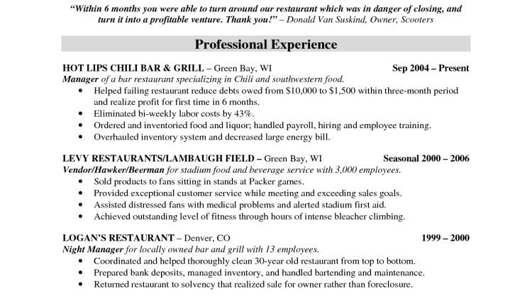 Restaurant Resume Sample Resumehotel Restaurant Manager Resume Sample  Examples  Restaurant Manager Resume Sample