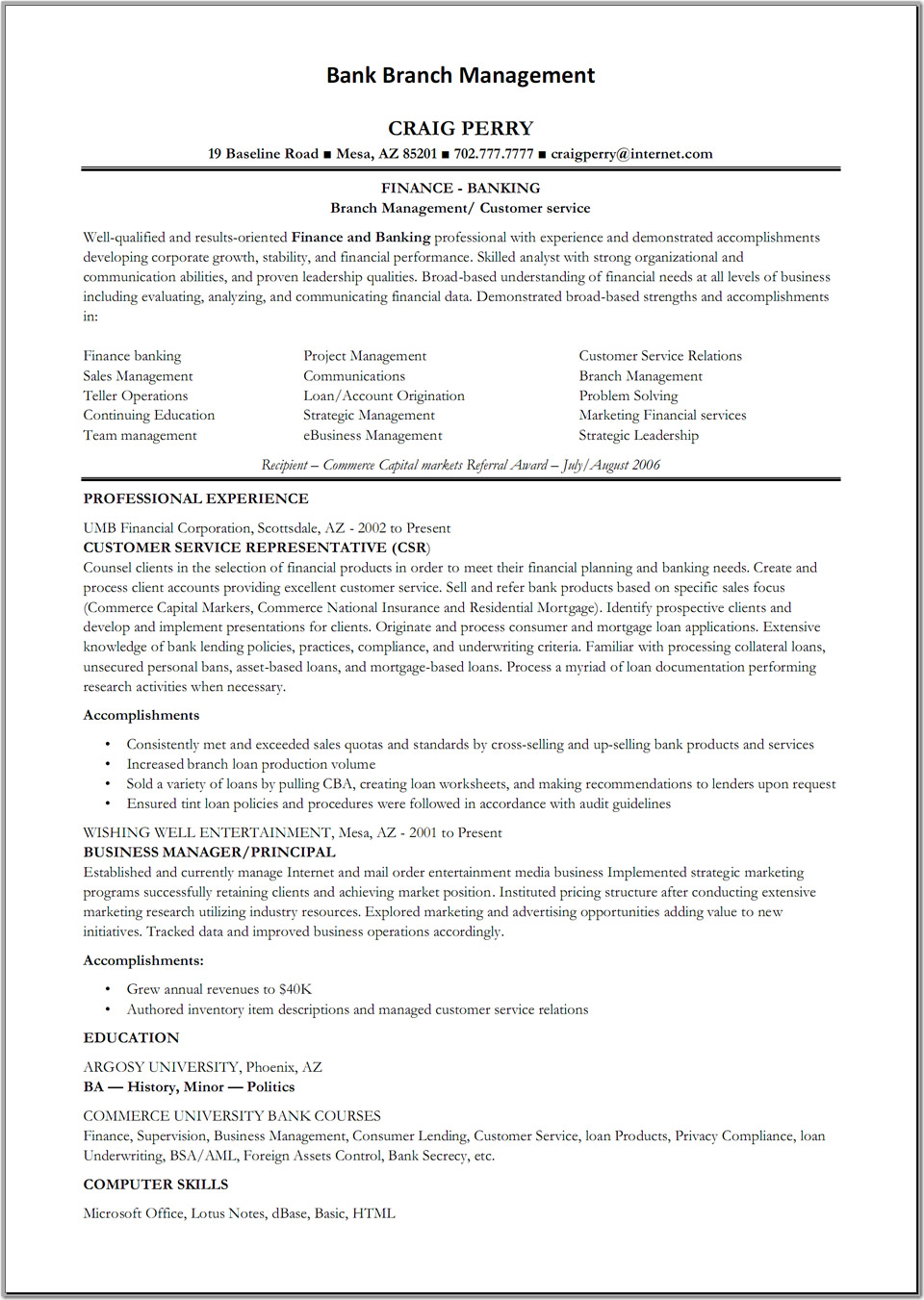 How To Write Of Bank Teller Resume Sample